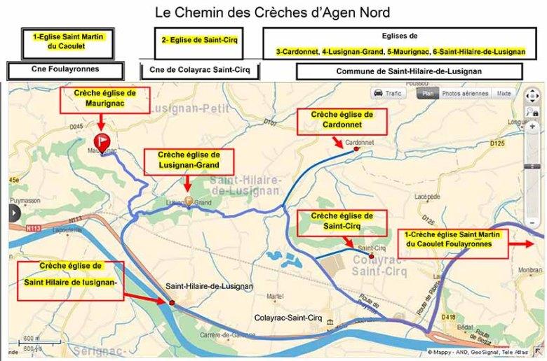 Carte_du_chemin_des_crèches Agen-Nord©photo Patrick Clermont
