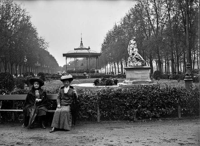 Le Jardin de la promenade du Gravier à Agen en 1920