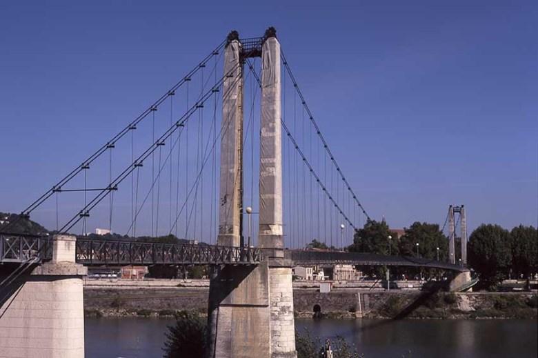 La Passerelle sur la Garonne en 1996