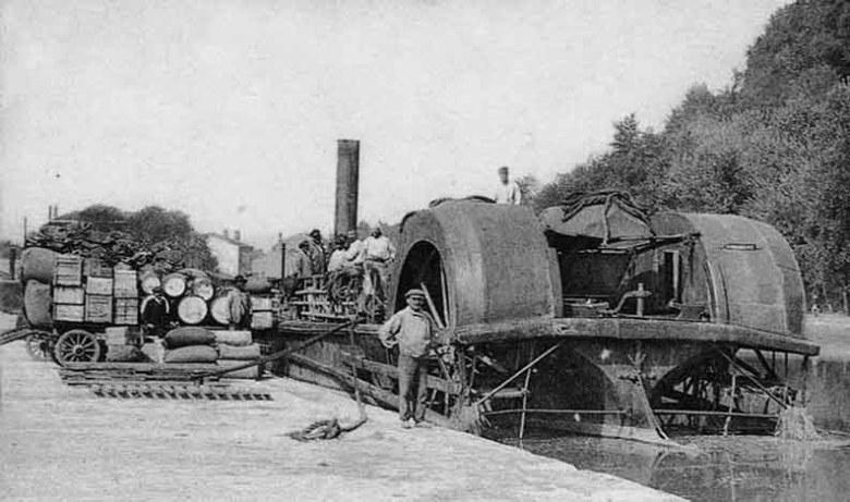 Agen-quai-du-canal Vapeur de transport de marchandise 1902