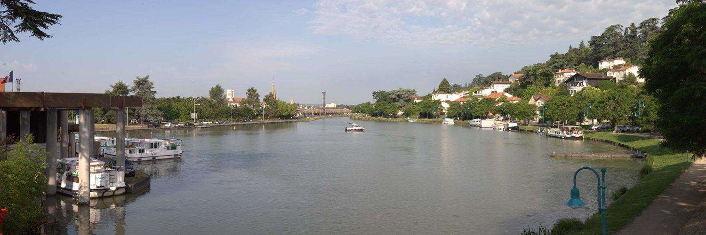 panoramique du canal à Agen