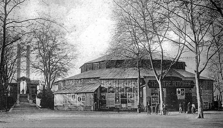 Théâtre La Rotonde pendant la construction du Théâtre Ducouneau