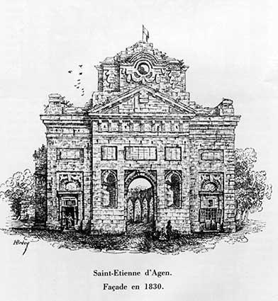 Cathédrale Saint Etienne en 1830