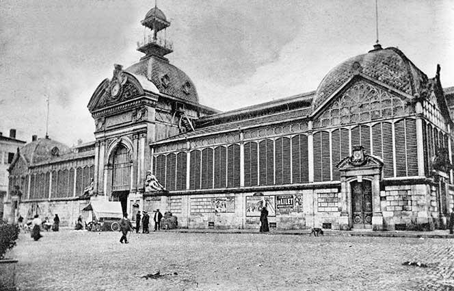 Grand marché d'Agen en 1900