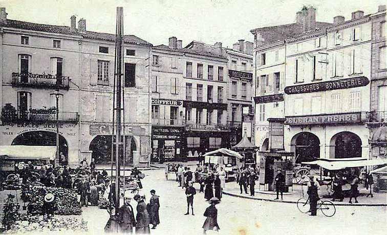 La place du Marché en 1910
