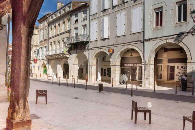 La rue des Cornières à Agen