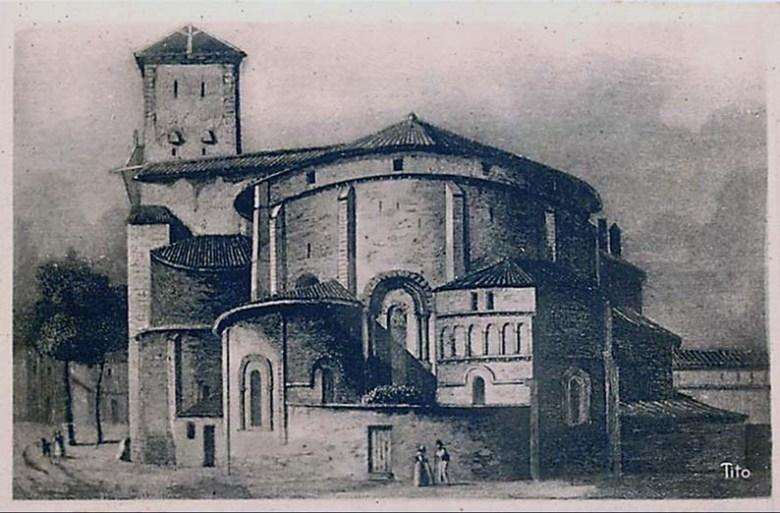 Cathédrale Saint-Caprais Abside, avant la restauration de 1840