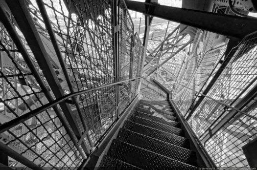 Les escaliers de la Tour Eiffel