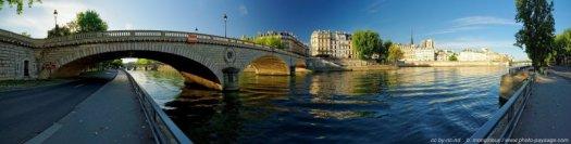 Le pont Louis Philippe et l'île St Louis, Paris, France