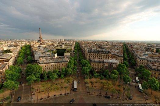 La Tour Eiffel vue depuis l'Arc de Triomphe
