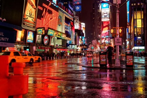 Time Square, New York, photo de nuit