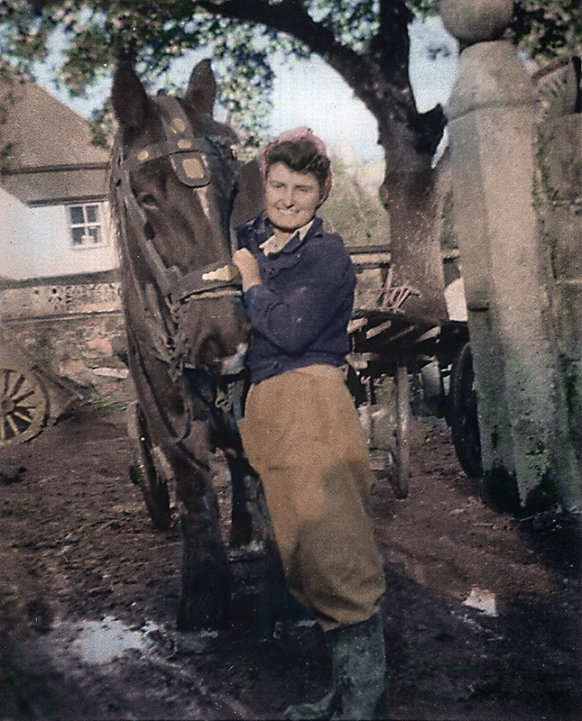 Land Girl - Colour Photo