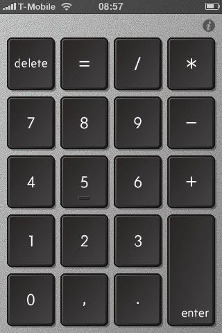 Nummernblock beim MacBook Pro