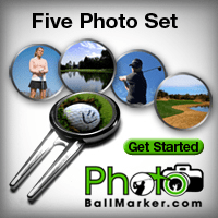 Custom Golf Ball Marker - Set of Five Ball Markers