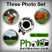 Personalized Golf Ball Markers - Set of Three Ball Markers