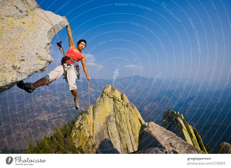 Female Rock Climber A Royalty Free Stock Photo From
