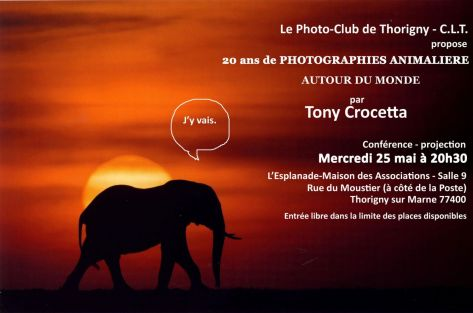 Tony Crocceta au Photo-club de Thorigny