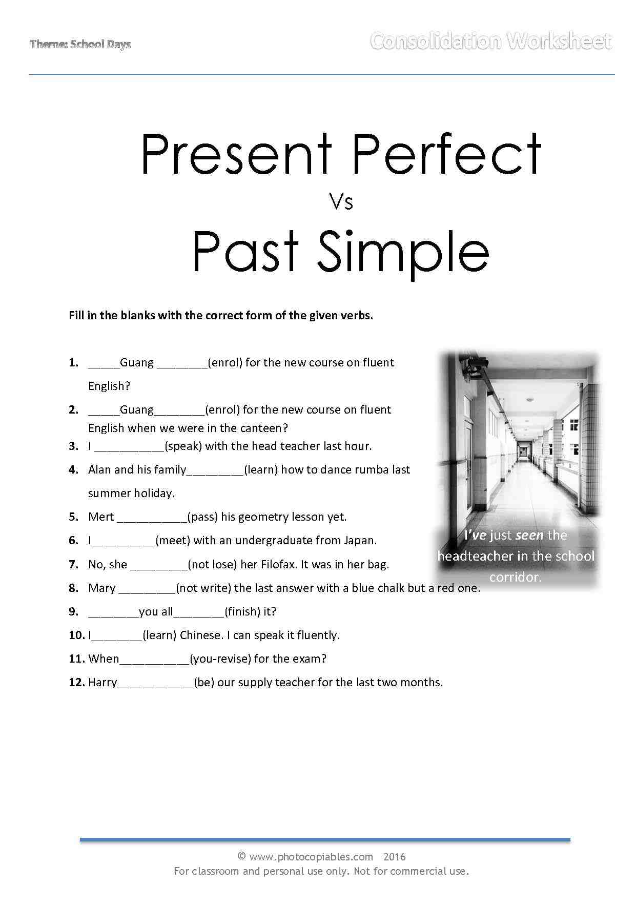 Exercises Past Simple Vs Present Perfect
