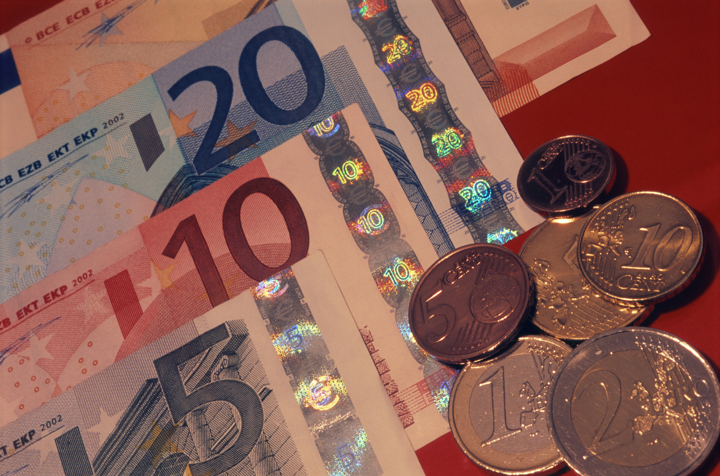 Free Stock Photo Of Close Up Of Euro Bills And Coin