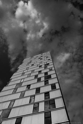 Gebouw in Zwart-wit