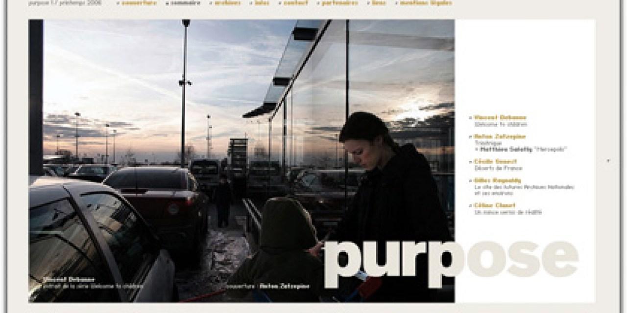 Purpose, une nouvelle revue photo sur le web