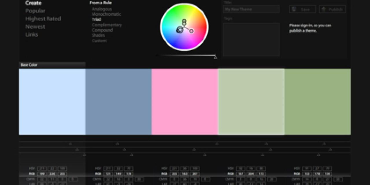 Kuler pour choisir les couleurs de votre blog