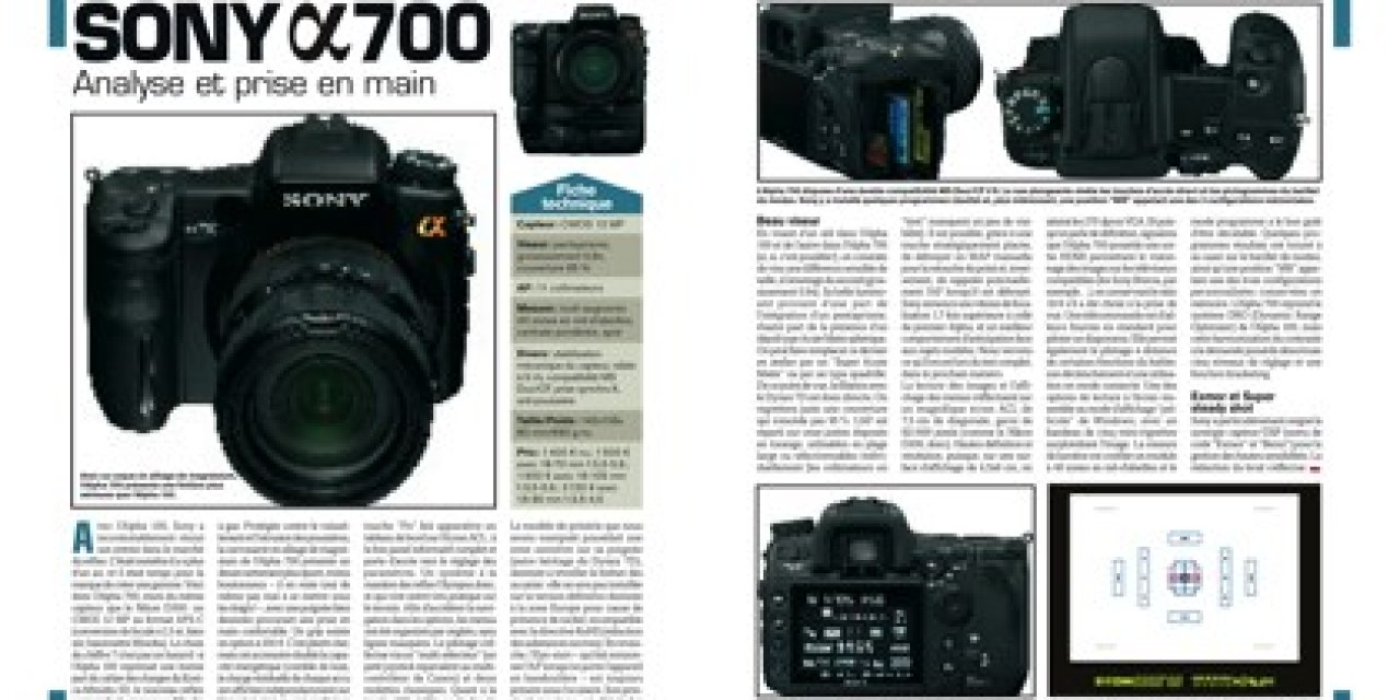 Réponses Photo 187 : errata Sony alpha700