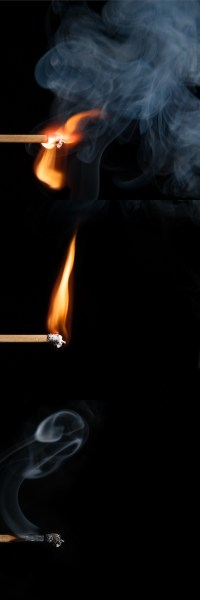 alles wird g(l)ut - PHOTOGALERIE WIESBADEN - flamme rauch formen