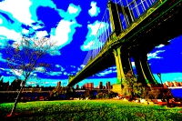extreme manhattan bridge (photo art edition) - PHOTOGALERIE WIESBADEN - new york city - fascensation