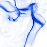 rauch 1 weiß blau - PHOTOGALERIE WIESBADEN - flamme rauch formen
