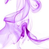 rauch 12 weiß lila - PHOTOGALERIE WIESBADEN - flamme rauch formen