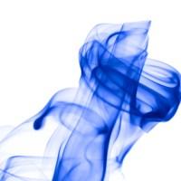rauch 7 weiß blau - PHOTOGALERIE WIESBADEN - flamme rauch formen