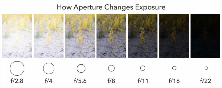 Aperture Effect on Brightness