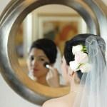 Toronto bride and mirror