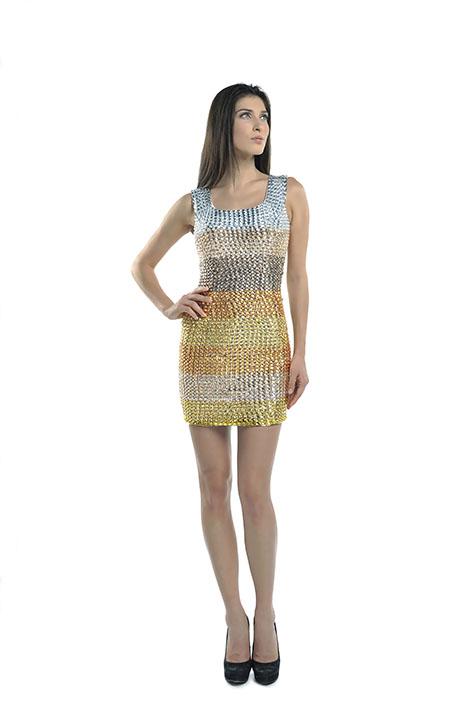 Gold Dress Front Fernanda