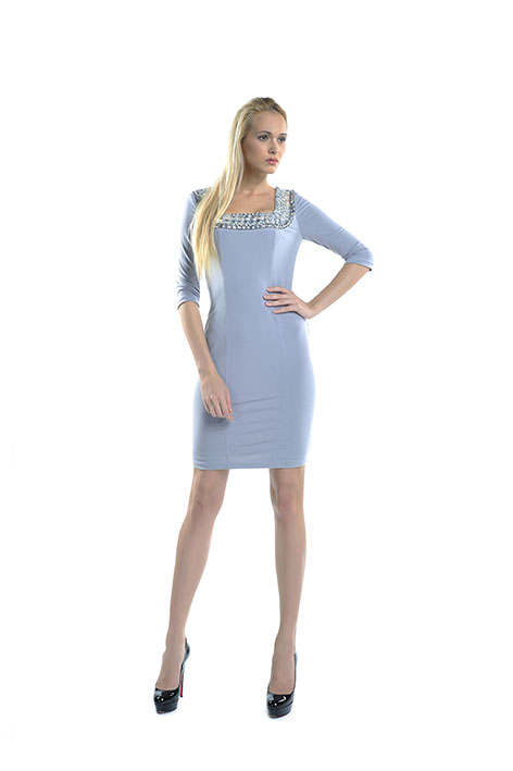 North York Toronto fashion product Grey Dress Front photography