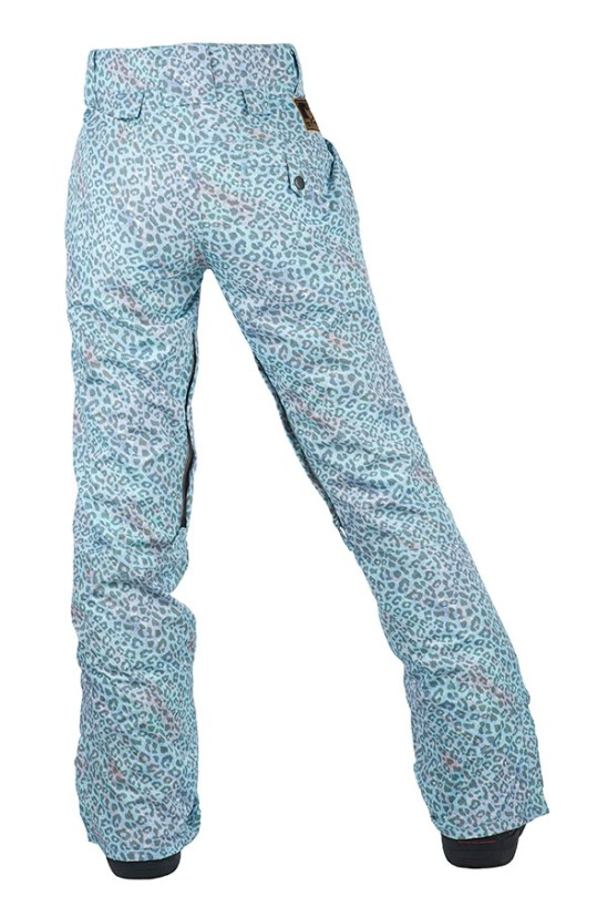 women printed pants back
