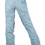 women printed pants back