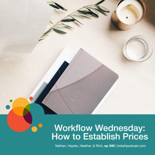 Episode 349: Workflow Wednesday: How to Establish Prices – Nathan, Haylee, Heather, & Rich