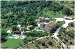 Aerial View of Villa Cortigiani
