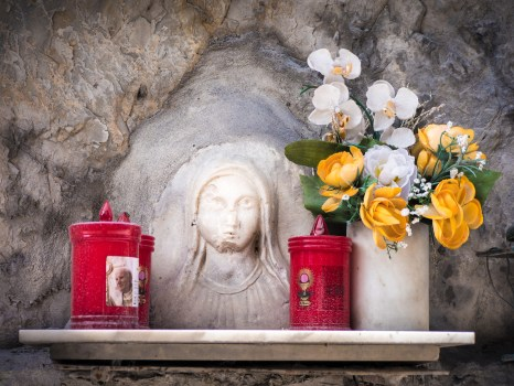 Roadside Shrine, Colonnata, Tuscany