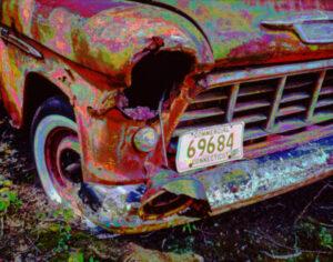 digital enhanced photograph of a 1974 Chevy pickup truck