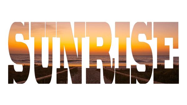 Sunrise - Text - photo canvas - Dawn - Surfers Paradise, Queensland, Australia