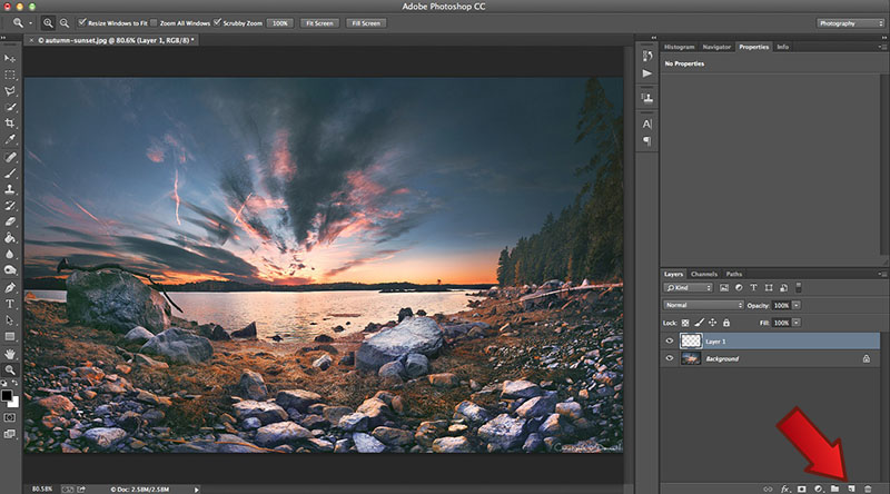 how to add a new image layer in photoshop