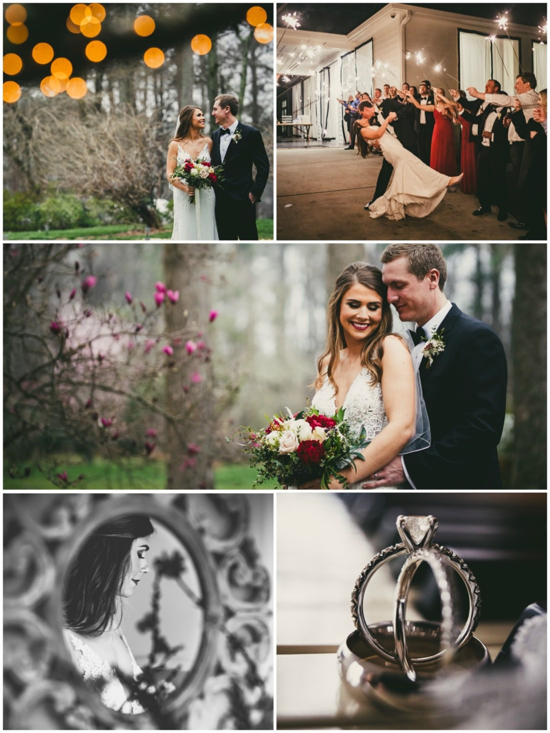 Atlanta wedding photographers spring wedding at little river farms.