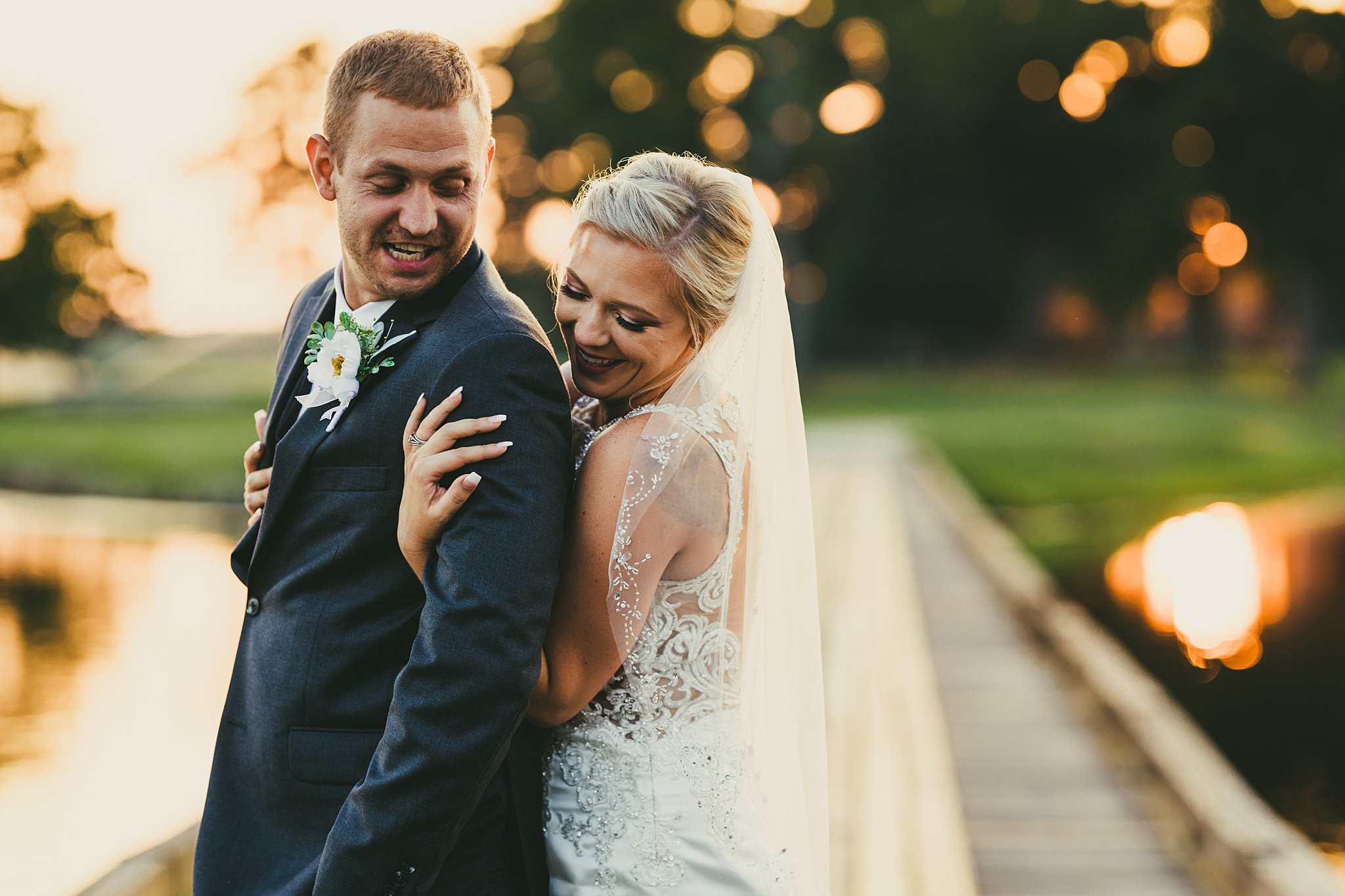 Bride and Groom Portrait by Love & Story Wedding Photographers in Perry, GA Houston Lake Country Club