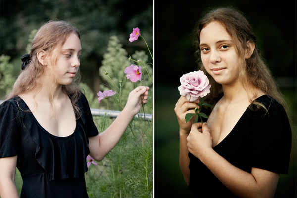 Portrait of Girl & Rose - Virginia