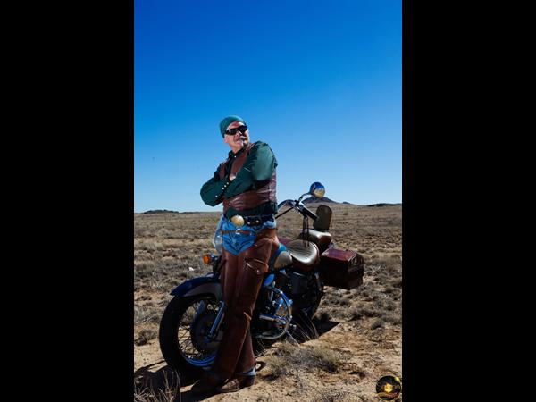 Man and Motorcycle - Albuquerque