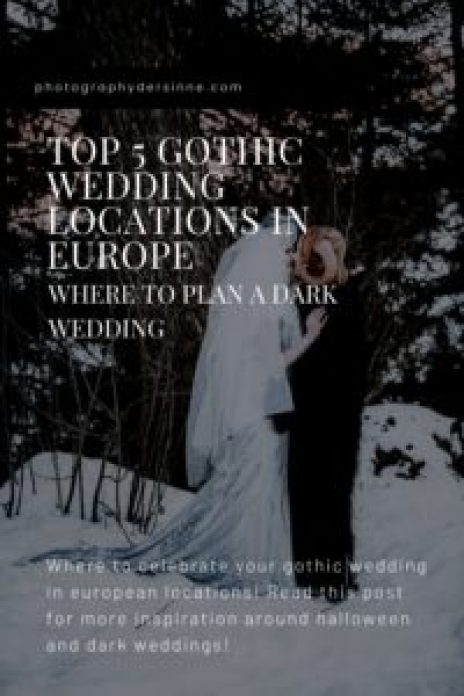 GOTHIC WEDDING LOCATIONS EUROPE