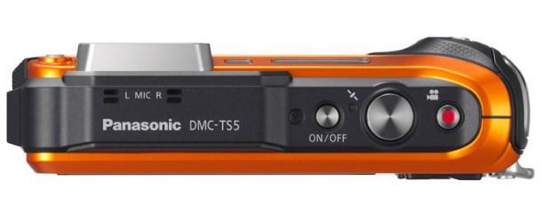 Panasonic Lumix DMC-TS5D review - top view